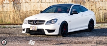 C63 AMG Rides on PUR Wheels and Custom Coils [Photo Gallery]