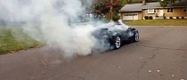 C7 Chevrolet Corvette Owner Does a Clutch Barbeque While Trying a Burnout