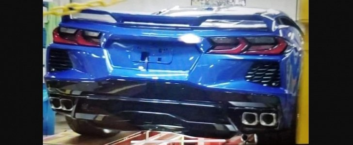 c8 corvette rear end photograph looks like elkhart lake blue