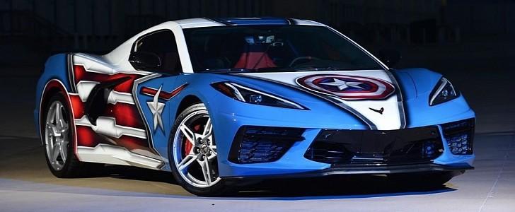 """C8 Corvette """"Superhero Wrap"""" Would Make Captain America Proud - autoevolution"""