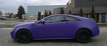 Cadillac CTS in Matte Purple [Photo Gallery]