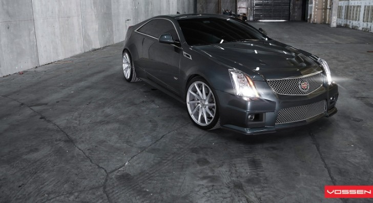 Cadillac CTS-V Coupe Gets Vossen CVT Wheels [Video] [Photo Gallery]