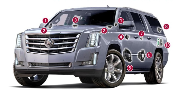 Bose Car Speakers >> Cadillac Showcases 2015 Escalade Bose Centerpoint Surround Sound System - autoevolution