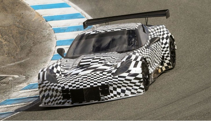 Camouflaged 2014 Corvette C7.R Makes Public Debut at Laguna Seca