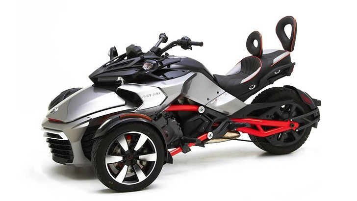 can am spyder f3 receives luxurious corbin seats autoevolution. Black Bedroom Furniture Sets. Home Design Ideas