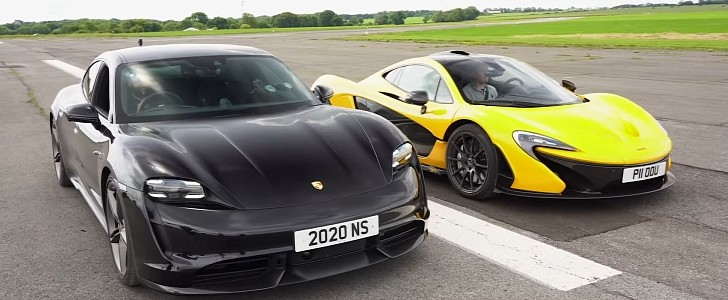 Can the Porsche Taycan Turbo S Win a Drag Race Against a McLaren P1 Hypercar?