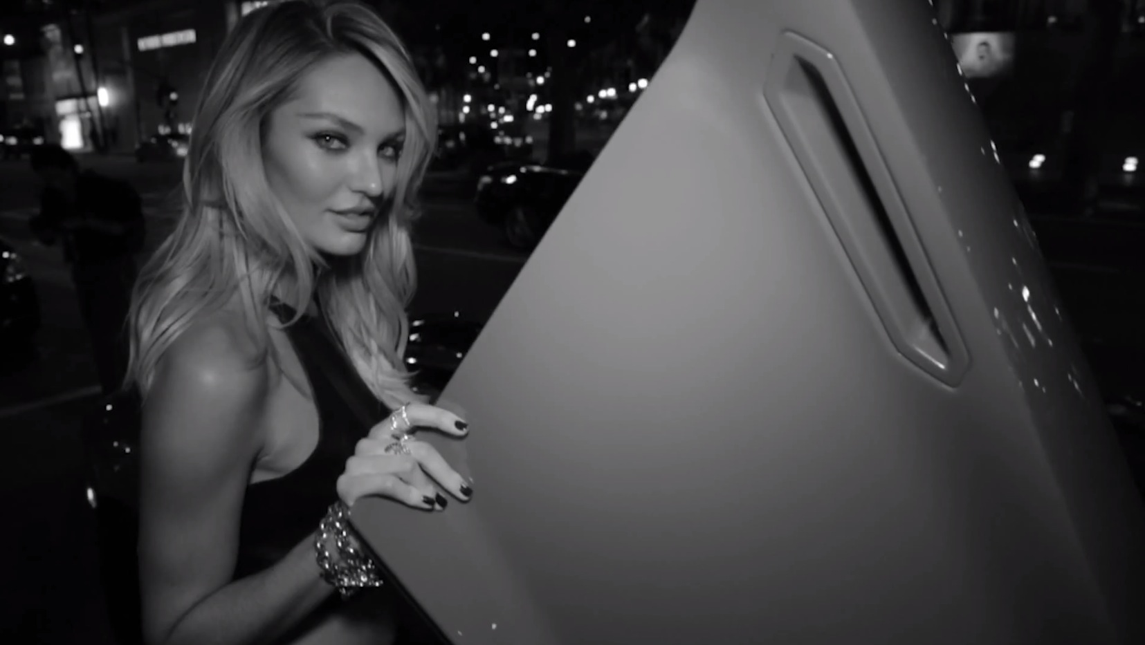candice swanepoel is hot driving in a lamborghini