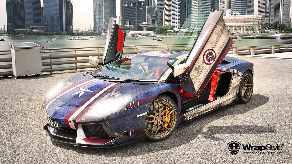 Captain America Lamborghini Aventador Is One Hell of a Wrap