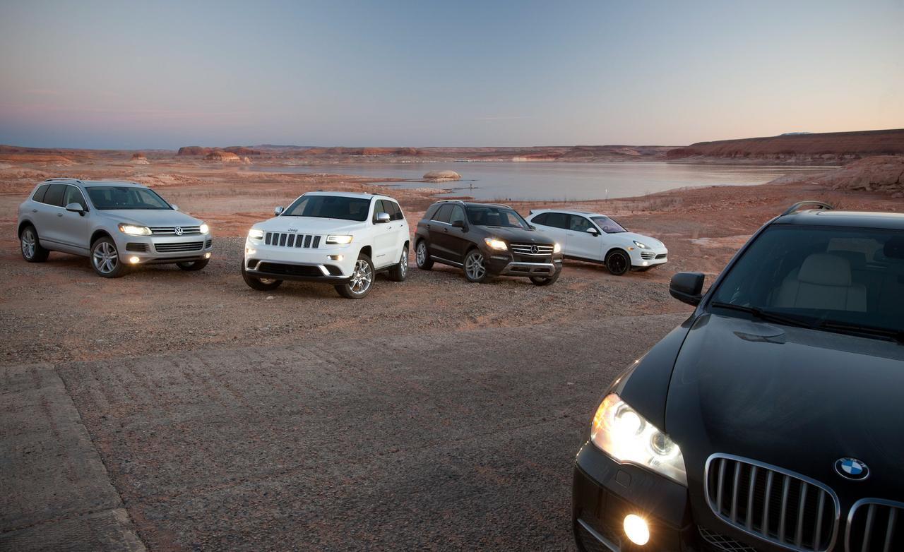 X5 vs Touareg vs Cayenne vs Grand Cherokee vs ML