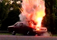Your car could go like this if you smoke inside with flammable objects around