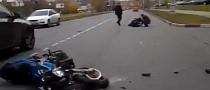 Car Brutally Smashing Bike in Russia [Video]