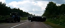 Car Flips After Crash with Tractor [Video]