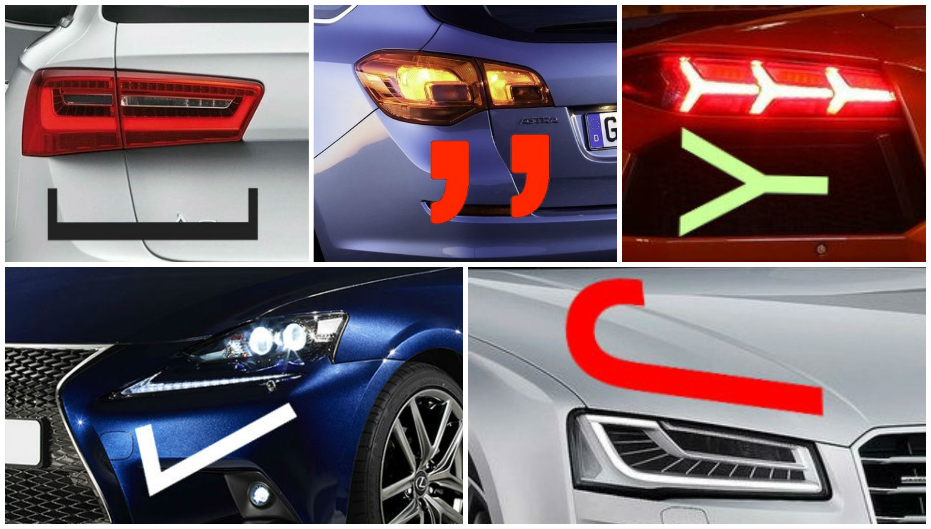 car headlight and taillight design takes inspiration from