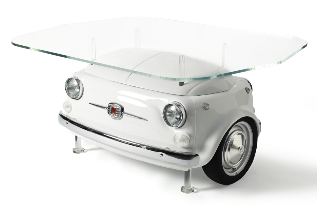 Car Picnic Table By Fiat 500 Design Autoevolution