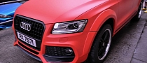 Caractere Audi Q5 Wrapped in Matte Red in Hong Kong [Video] [Photo Gallery]