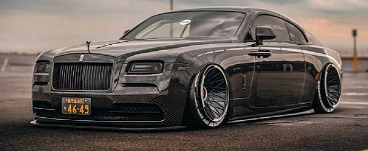 Carbon Body Rolls-Royce Wraith Rendered on Turbofan Wheels Looks Wild