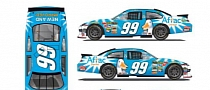 Carl Edwards Sports Aflac Dental Paint Scheme on His Ford Fusion