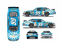 The No. 99 Aflac Ford Fusion