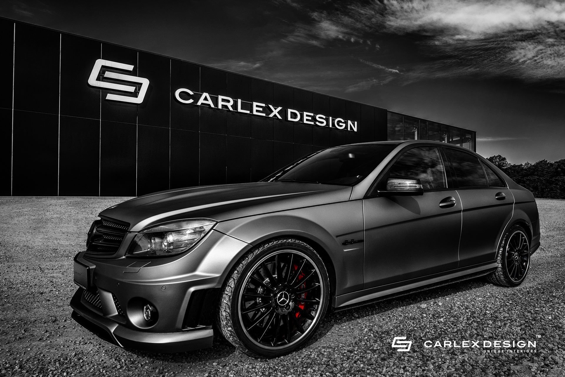 mercedes amg c63 gets tuned by carlex shows w204. Black Bedroom Furniture Sets. Home Design Ideas