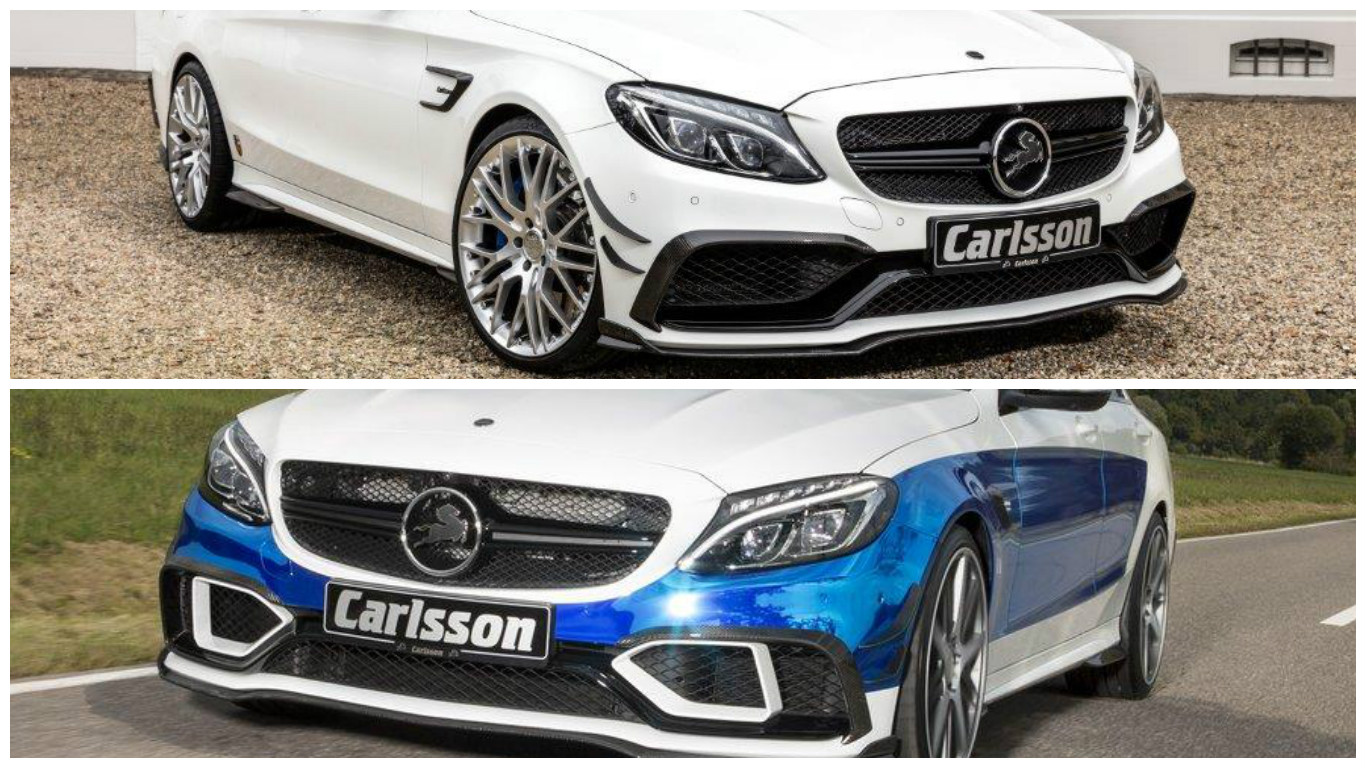 Carlsson 39 s revised cc63s body kit looks much better on the for Mercedes benz amg kit