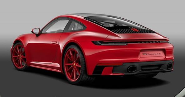 Carmine Red 2020 Porsche 911 With Sport Design Package
