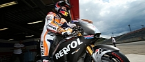 Casey Stoner Testing the Honda Production Racer, Rain Still Mocks Him