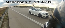CBR600RR and R6 Try to Keep Up with Mercedes-Benz C63 AMG Coupe [Video]