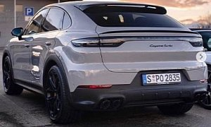 Chalk Porsche Cayenne Turbo Coupe Spotted At Dealer Looks