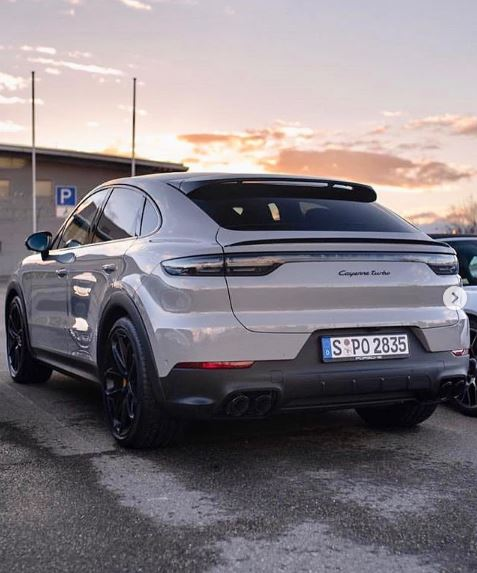 Chalk Porsche Cayenne Turbo Coupe Spotted At Dealer, Looks