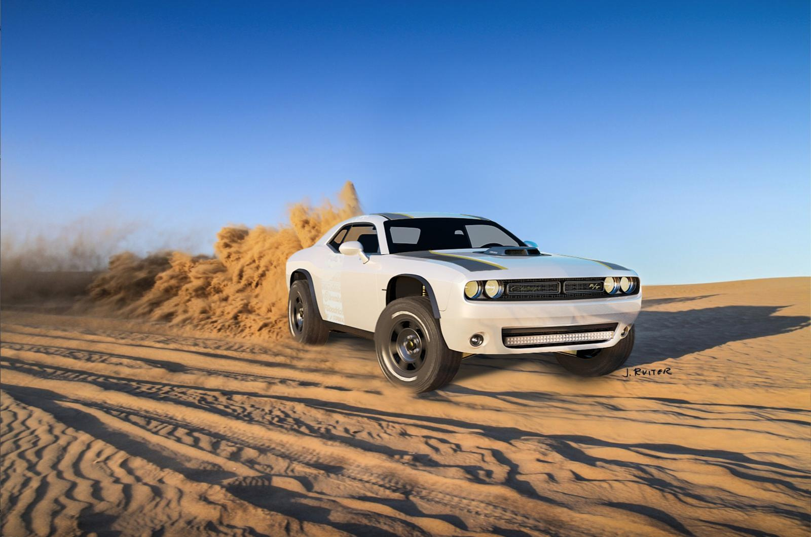 Challenger A T Unlimited Concept Makes For An Offroading Muscle Car