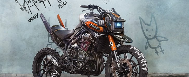 Chappie Inspired Triumph Tiger Explorer Is A Futuristic Rat Concept We Like on Old Concept Cars