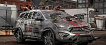Check Out the Hyundai Santa FE Zombie Survival Machine [Video]