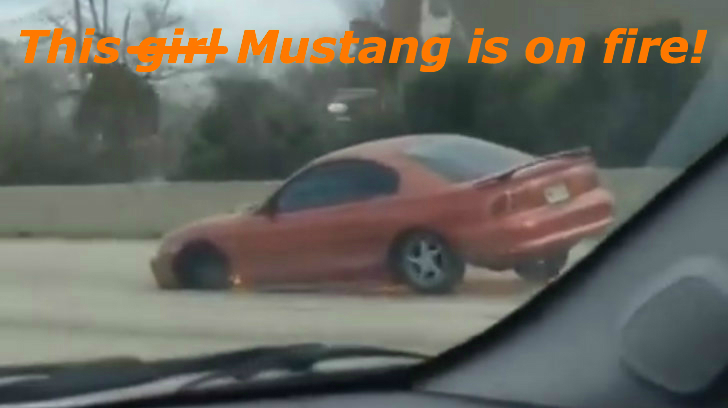 Check Out This Three-Wheel Ford Mustang Driving On the ...