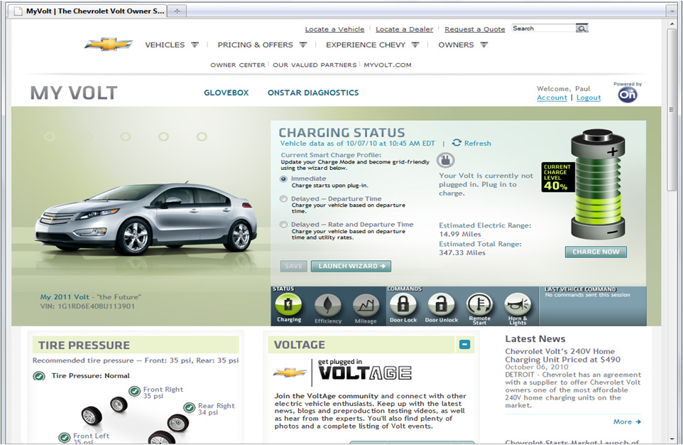 Chevrolet Volt Offers On-Star Remote Access Through ...