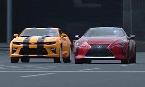 Chevrolet Camaro SS vs. Lexus LC 500 Virtual Drag Race Is a Little Embarrassing