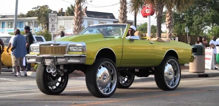 Chevrolet Caprice Convertible on 30-inch DUB Wheels: Overkill [Video]