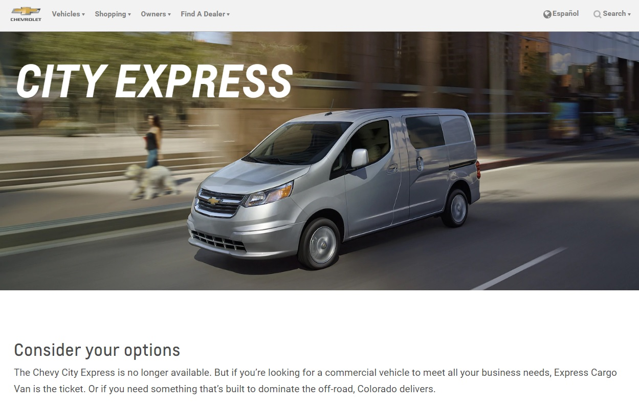 Chevrolet City Express Leaves The Small Van Segment Over