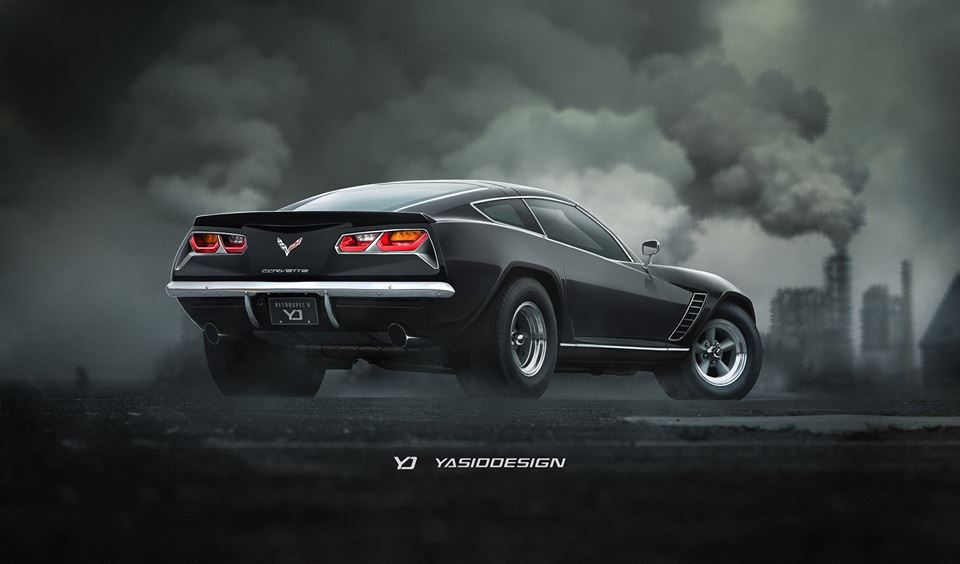 Retro-Crazy Chevrolet Corvette Mashup Is a C7 with Classic Camaro ...