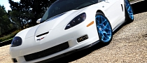 Chevrolet Corvette ZR1 on Blue HRE Wheels