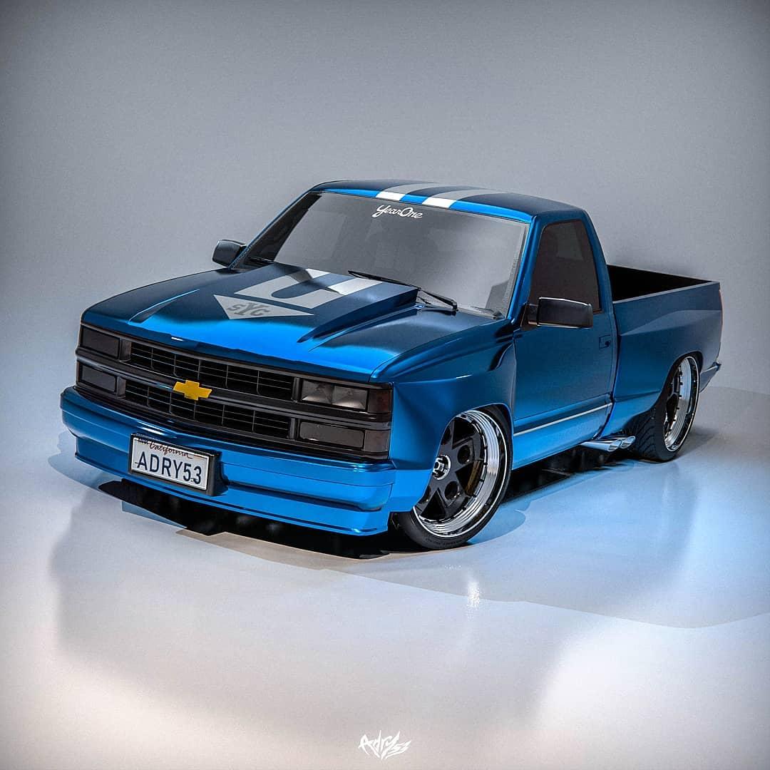 Chevrolet Silverado Yenko Is A 90s Muscle Truck In Performance Rendering Autoevolution