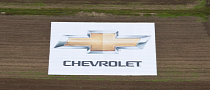 Chevrolet Unveils Huge Logo at Frankfurt Airport