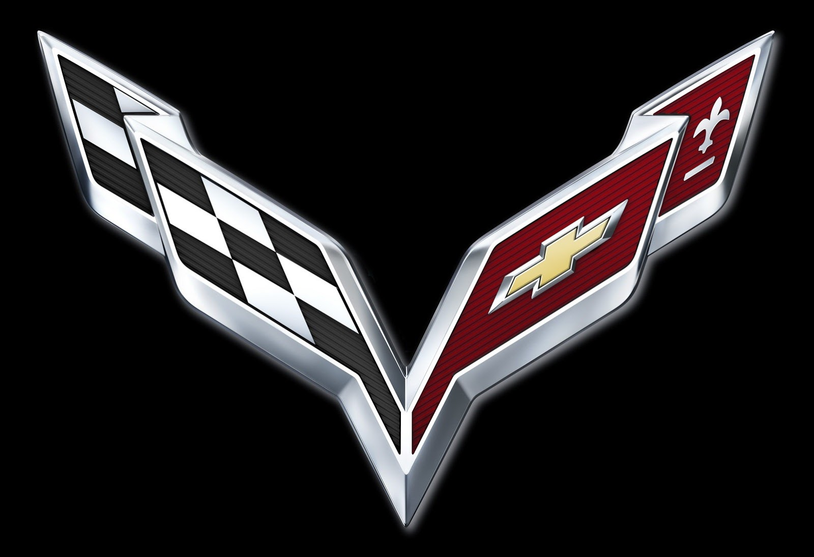 Chevrolet Unveils New C7 Corvette Crossed Flag Logo