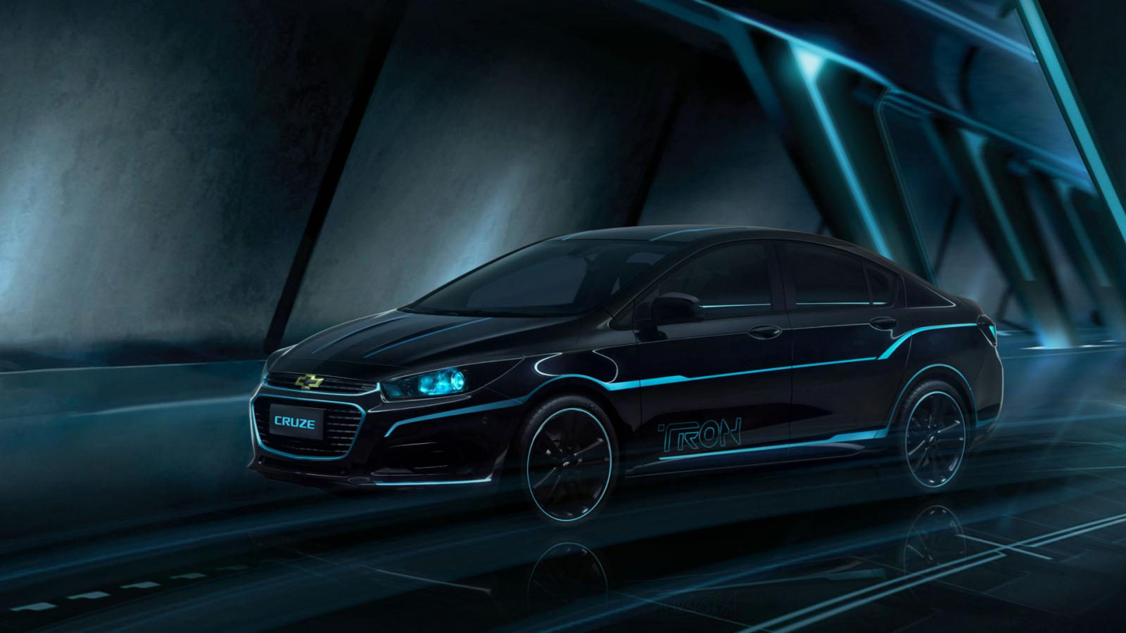 Chevrolet Works with Disney for a Special Cruze Model Inspired by TRON: Legacy - autoevolution