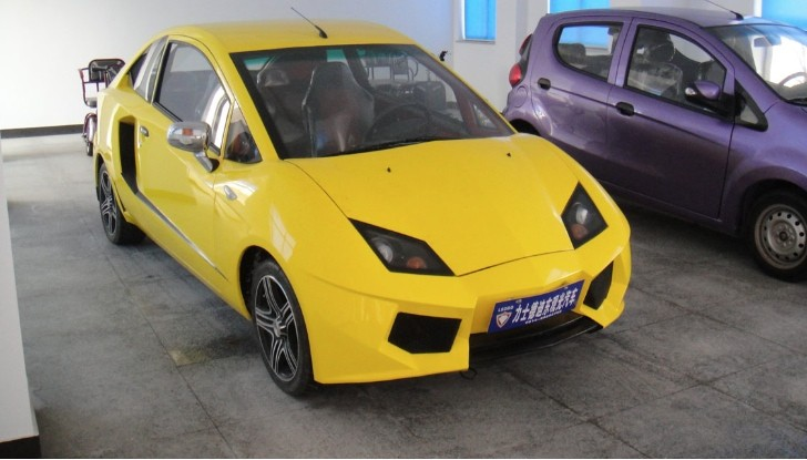 Chinese Company Clones Lamborghini Supercar, Gives It a 10 HP Electric Motor
