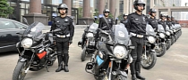 Chinese Police Using Aprilia Mana Motorcycles to Escort Henry Kissinger