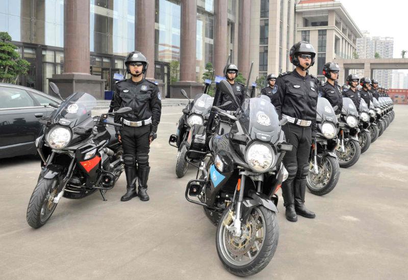 Chinese Police Using Aprilia Mana Motorcycles To Escort