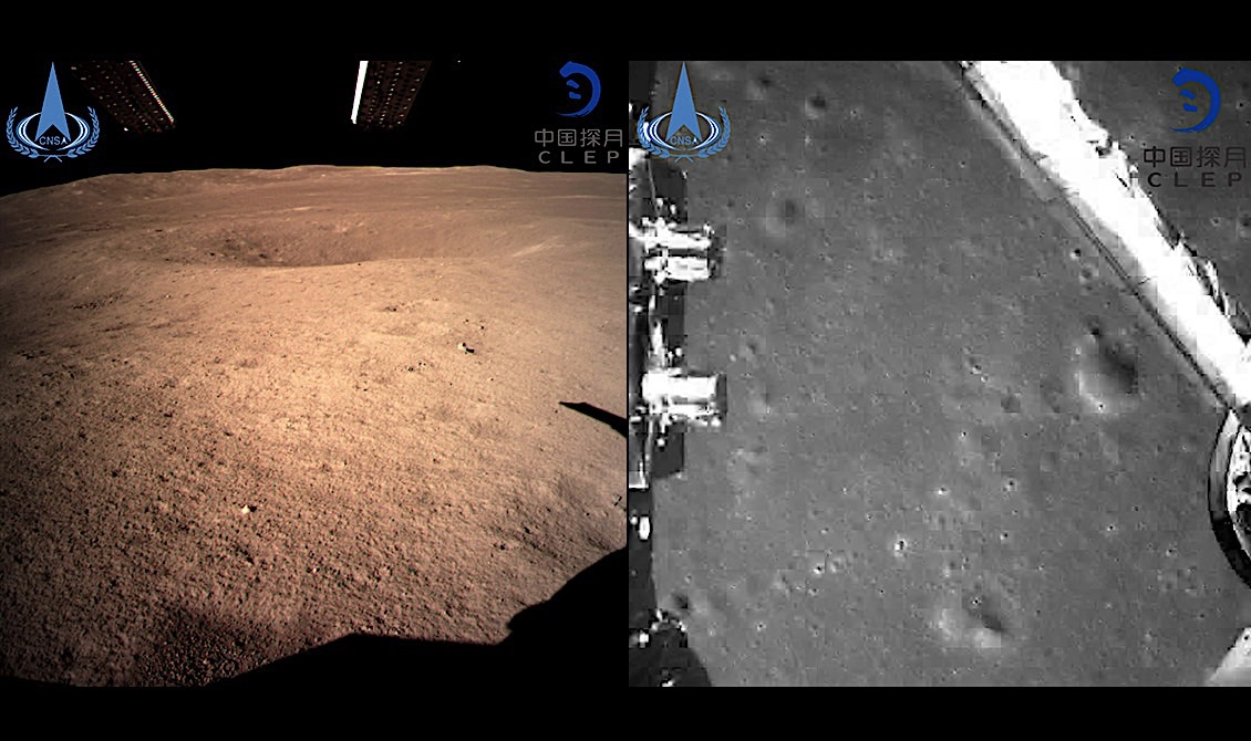 Chinese Rover Lands on Dark Side of the Moon, First Photos Released