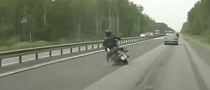 Chopper Wobbles and Crashes Hard [Video]