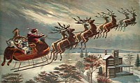 Santa uses 9-reindeerpower, including Rudolf