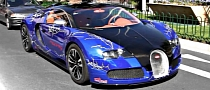 Chrome Blue Bugatti Veyron With Lightning Motif [Video]